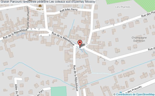 Parcours randonn e p destre les coteaux sud d 39 epernay for Plan d epernay
