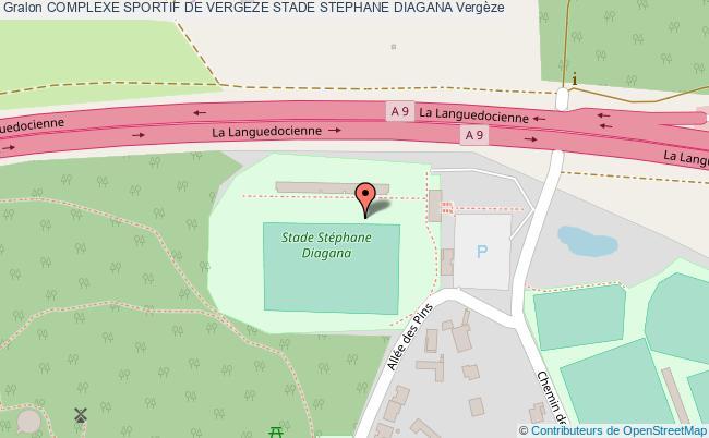 plan Piste D'athletisme Du Complexe Sportif De Vergeze