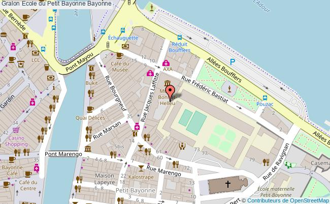 plan Plateau Eps De L'école Du Petit Bayonne