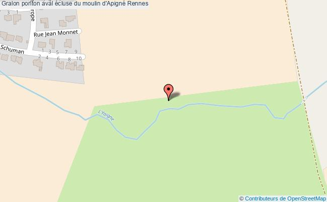 plan Ponton Annexe Aval écluse Du Moulin D'apigné