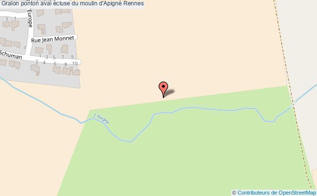 plan Ponton Principal écluse Moulin D'apigné