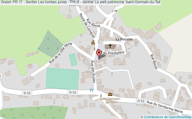 plan Pr 17 - Sentier Les Tombes Juives