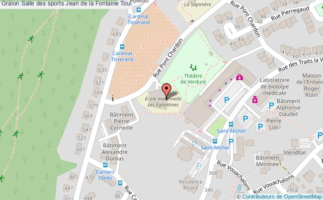 Salle d 39 arts martiaux salle des sports jean de la fontaine for Toul 54200 plan