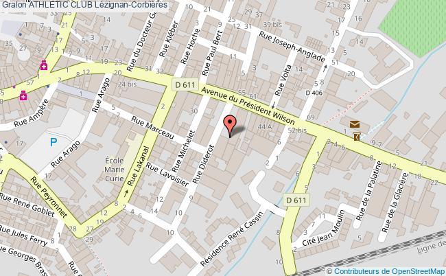 plan Salle De Judo De L'athletic Club De Lezignan-corbieres