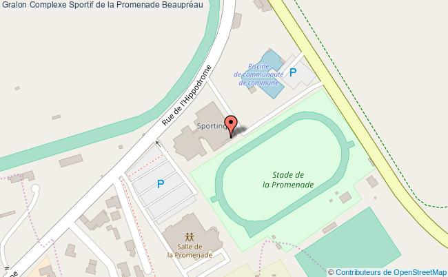 plan Salle De Sports De La Promenade