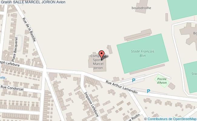 plan Salle Marcel Jorion