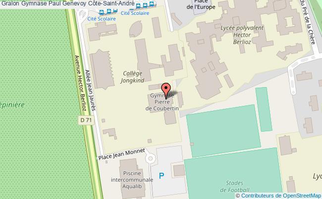 Salle omnisport 2 gymnase paul genevoy c te saint andr for Piscine la cote st andre