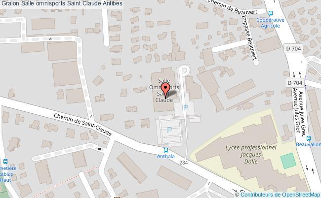 plan Salle Omnisports Saint Claude (escrime)