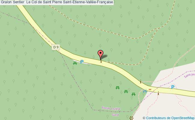 plan Sentier  Le Col De Saint Pierre