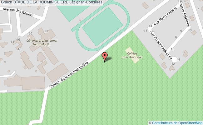 plan Skate Park Du  Stade De La Rouminguiere De Lezignan-corbieres