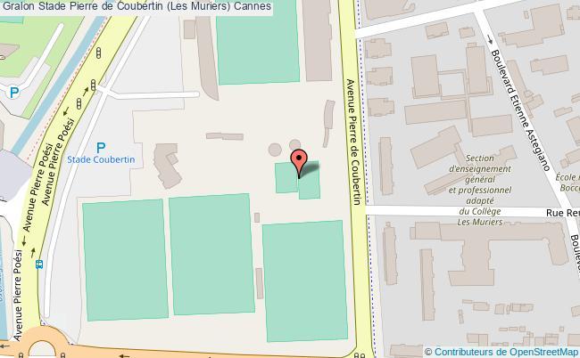 plan Stade Coubertin (piste Et Saut En Hauteur)