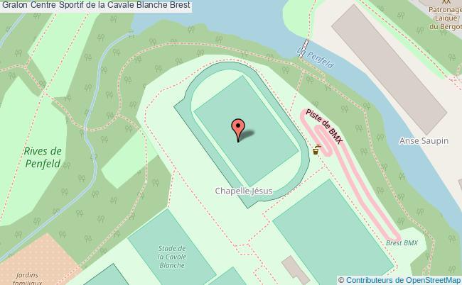 plan Stade D'athlétisme De La Cavale Blanche