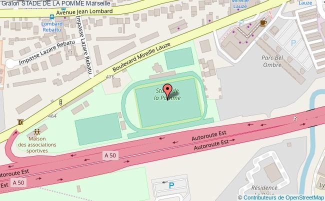 plan Stade D'athlétisme De La Pomme
