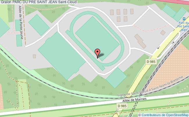 Stade d 39 athletisme parc du pre saint jean saint cloud - Stade francais porte de saint cloud ...