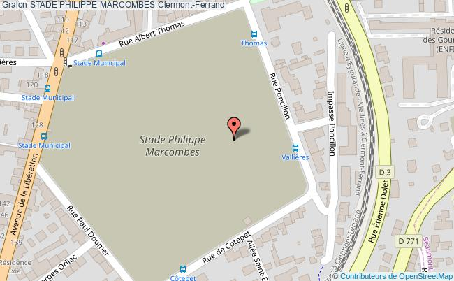 plan Stade D'athlétisme