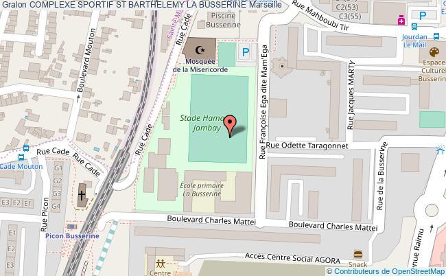 plan Stade De Foot De St Barthelemy Busserine