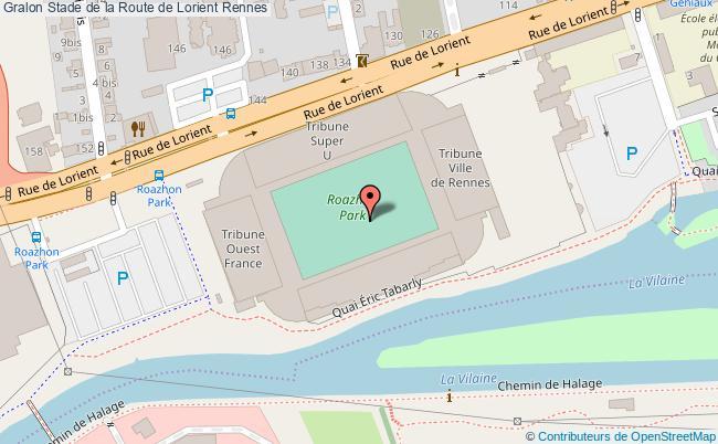 plan Stade De La Route De Lorient