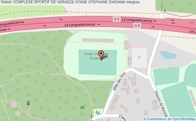 plan Stade Gazonne Du Complexe Sportif De Vergeze