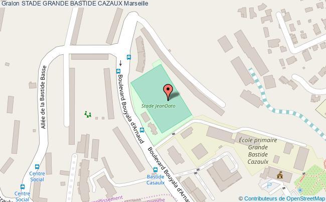 plan Stade Jean Dato Grande Bastide Cazaux