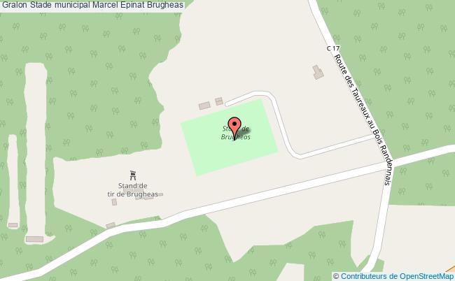 plan Stade Municipal Marcel Epinat