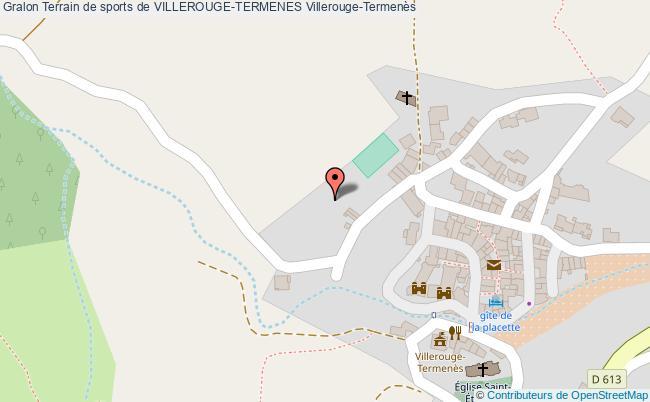 plan Terrain De Football De Villerouge-termenes