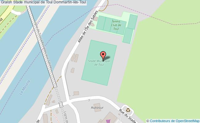 Terrain de football stade municipal de toul dommartin l s toul for Toul 54200 plan