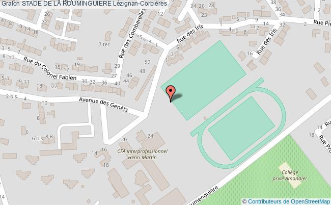 plan Terrain De Hand Du  Stade De La Rouminguiere De Lezignan-corbieres