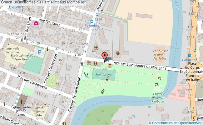 Terrain de lyonnaise boulodromes du parc rimbaud for Boulodrome montpellier