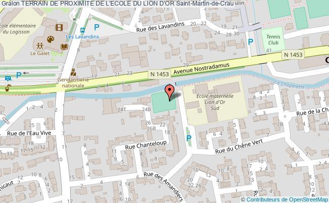 plan Terrain De Proximite De L'ecole Du Lion D'or