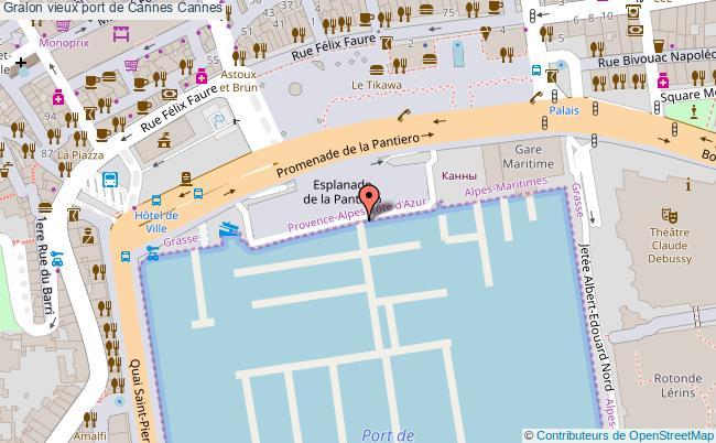 plan Vieux Port De Cannes