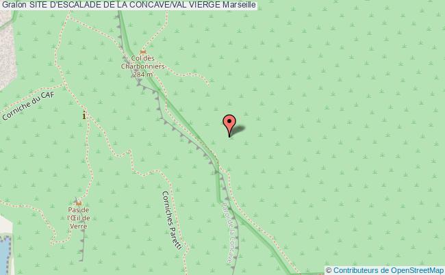 plan Voies D'escalade De La Concave/val Vierge