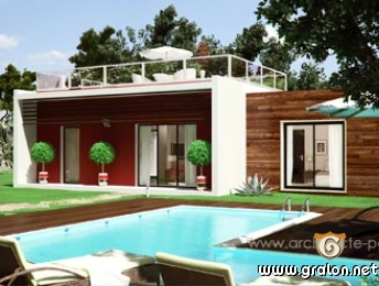 Photo plan de maison contemporaine en bois photos abstrait - Plan maison architecte design ...
