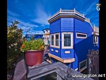 Photo sausalito floating homes pr s de san francisco for Adresse maison bleue san francisco