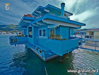 photo une maison flottante sausalito pr s de san francisco californie photos mer. Black Bedroom Furniture Sets. Home Design Ideas