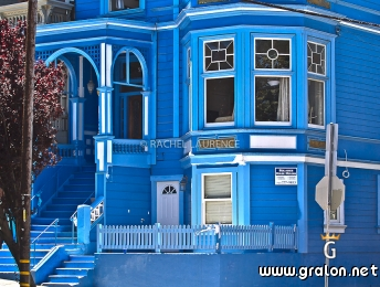 Photo une maison bleue haight ashbury san francisco for Adresse maison bleue san francisco
