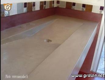 Photo vasque en b ton cir photos objet for Beton cire mercadier avis