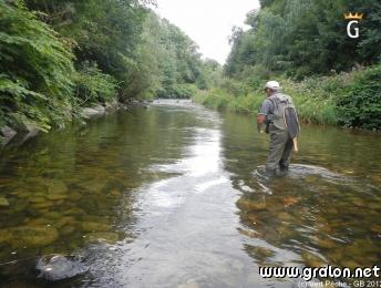 La pêche sur la rivière le rotengle