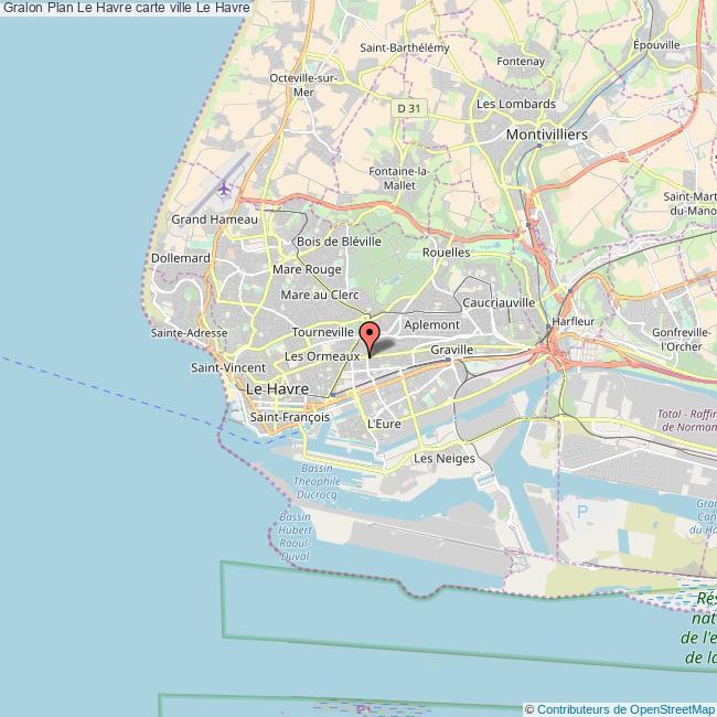 Plan Le Havre carte ville Le Havre