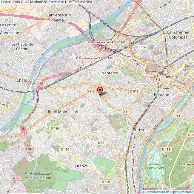 Plan Rueil Malmaison Carte Ville Rueil Malmaison