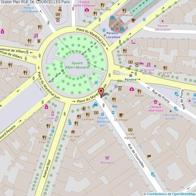 Merveilleux Plan Rue De COURCELLES