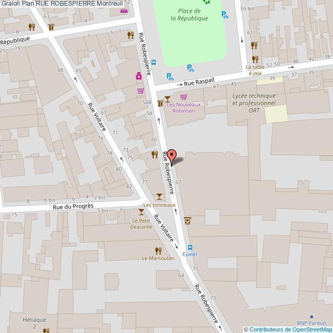 plan Rue ROBESPIERRE