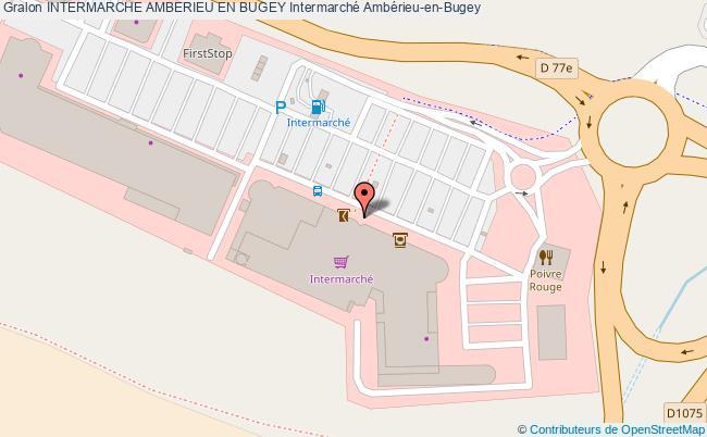 Plan Station INTERMARCHE AMBERIEU EN BUGEY