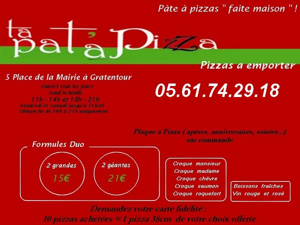 Ta Pat' A Pizza  Gratentour