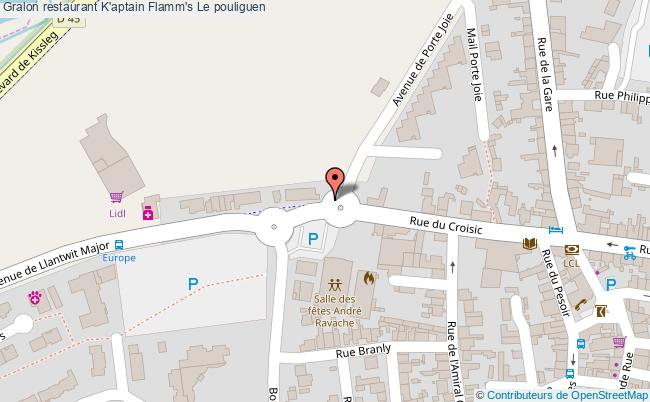 plan K'aptain Flamm's Le pouliguen