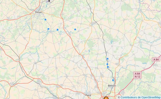 plan canal d'Ille et Rance