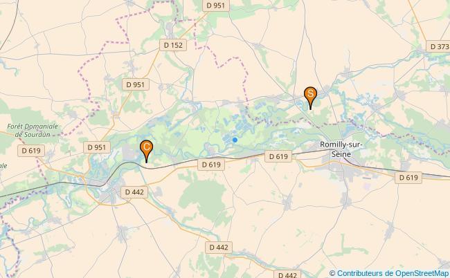 plan Canal de Derivation de Bernieres a Conflans