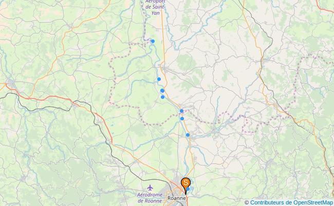 plan canal de Roanne à Digoin