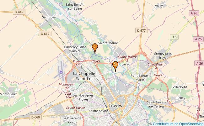plan Canal Saint Etienne