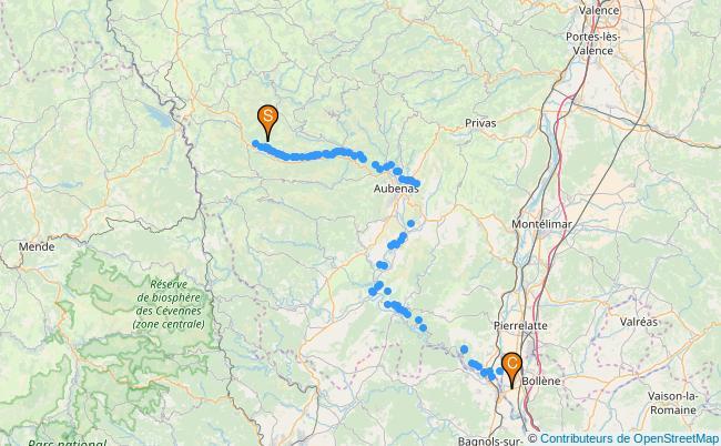 plan L'Ardèche