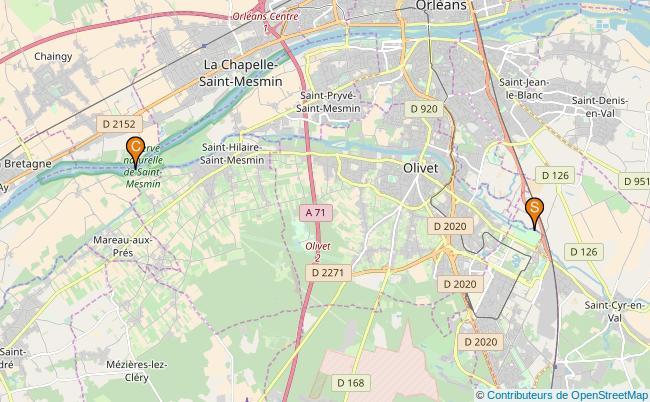 plan le Loiret